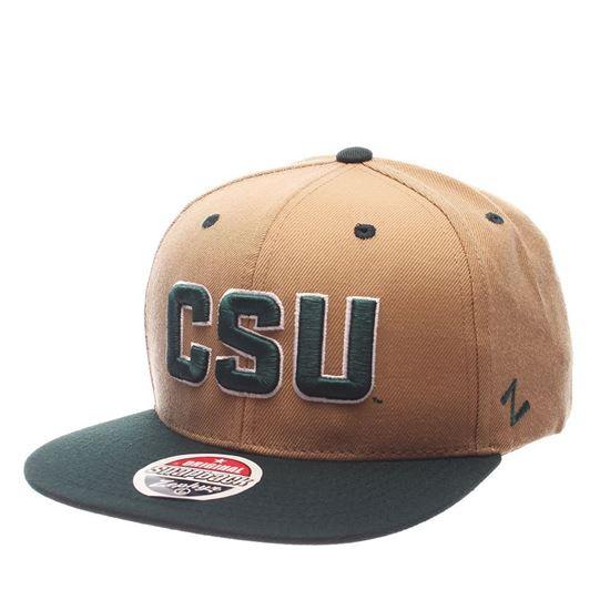 CSU Bookstore. Khaki Green Colorado State CSU Zephyr Snapback Hat 77051073d42