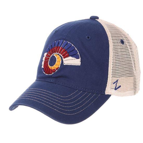 5ea0a6c1d51 CSU Bookstore. Royal Blue Colorado State Ram Horn Zephyr Hat